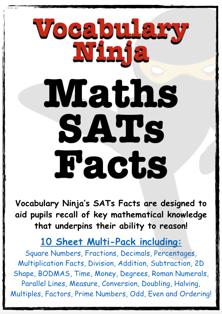 Maths SATs Facts - Multi-pack