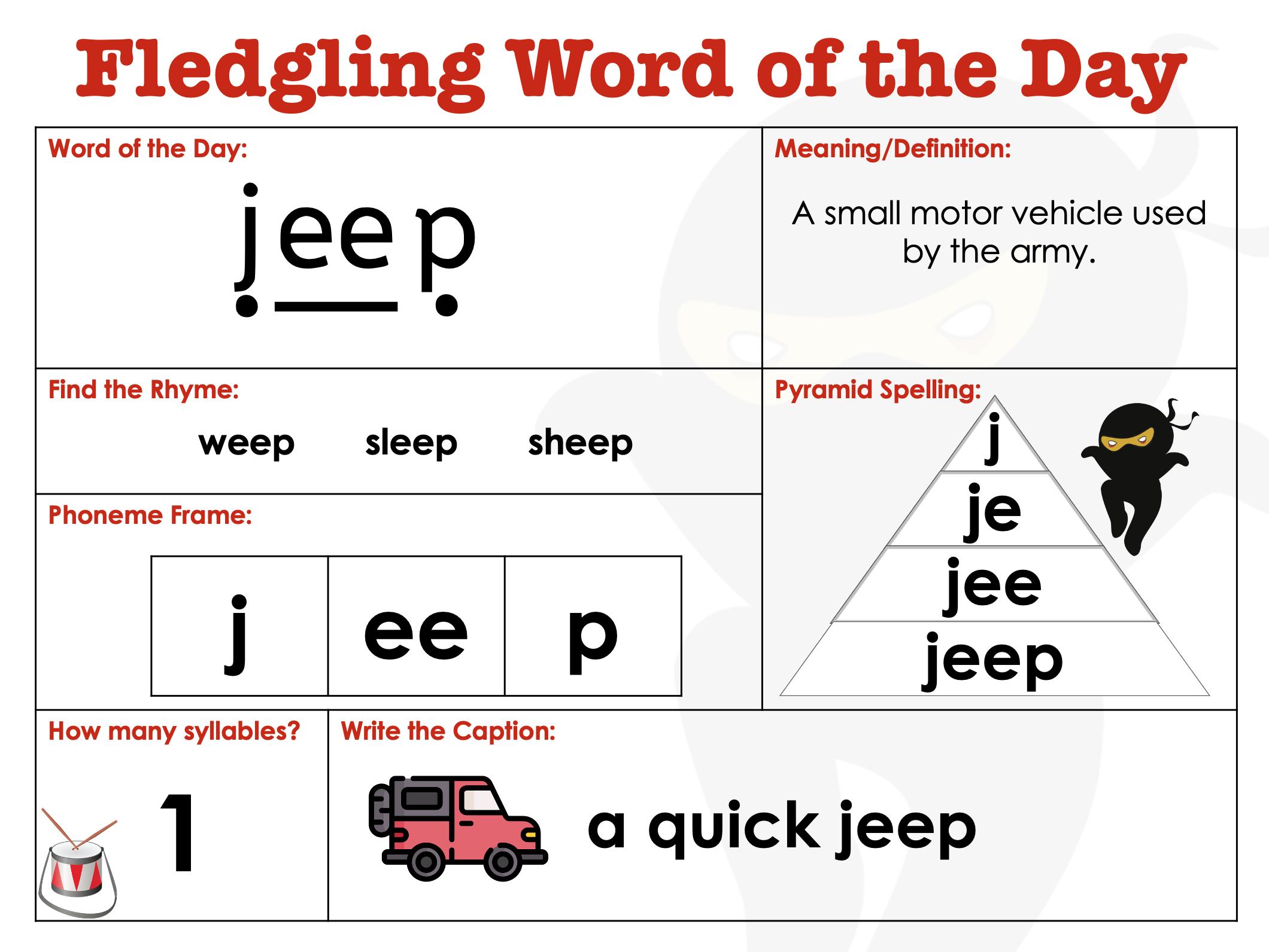 EYFS Word of the Day