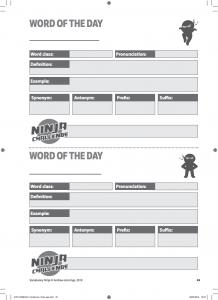 Bloomsbury Hidden Resources - Word of the Day